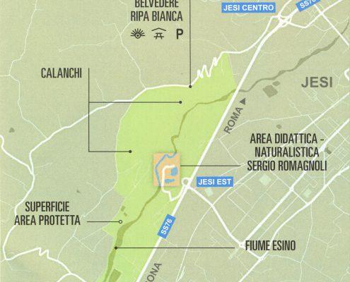 mappa riserva wwf jesi